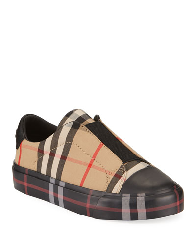 Mini Markham Elastic Vamp Check Sneakers, Toddler/Kids