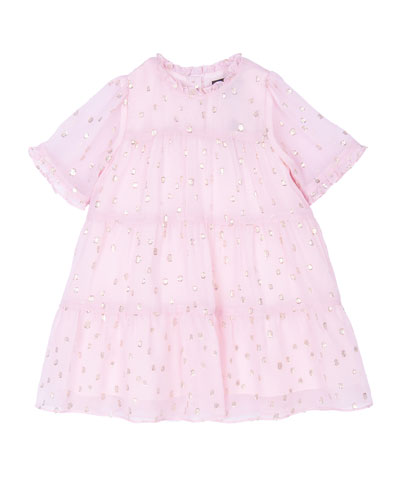 Girl's Melissa Tiered Dress, Size 3-24 Months