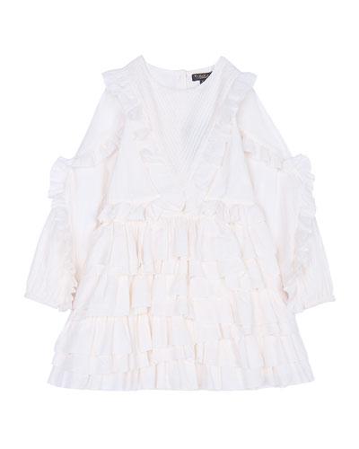 Winona Ruffle Party Dress, Size 8-12