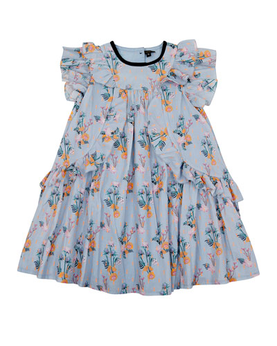 Tess Floral Flare Dress, Size 8-12