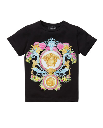 Girl's Multicolored Medusa Graphic Tee, Size 8-14