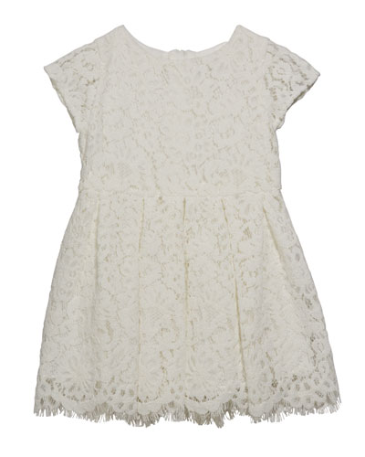Girl's Cap Sleeve Lace Dress, Size 6-24 Months