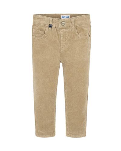 Boy's Slim Fit Corduroy Pants, Size 4-8
