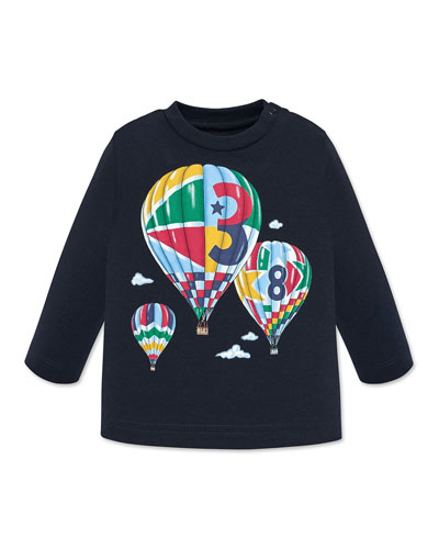 Boy's Hot Air Balloons Graphic Tee, Size 12-36 Months