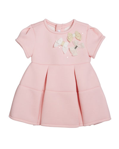 Girl's Bow Trim Dress, Size 6-36 Months
