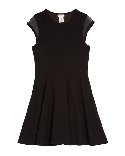 The Willow Mesh-Sleeve Dress, Size S-XL