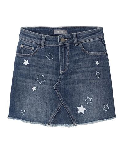 Jenny Stars A-Line Denim Skirt, Size 2-6