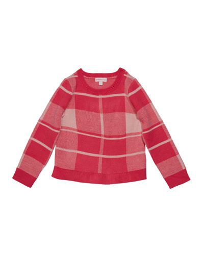 Girl's Plaid Sweater, Size 2-6X