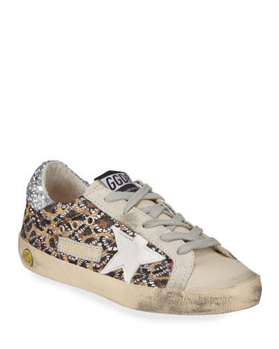 Superstar Leopard Embellished Sneakers, Toddler/Kids