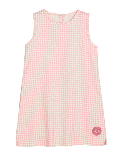 Houndstooth Print Sleeveless Dress, Size 18m-10