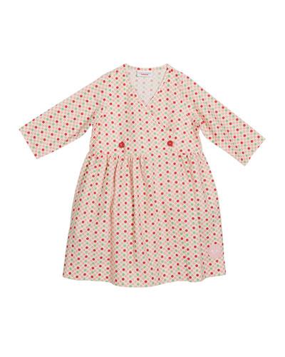 Gumdrop Print V-Neck Dress, Size 18m-10