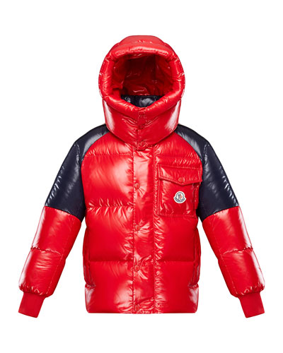 Boy's Sigean Colorblock Puffer Coat, Size 4-6