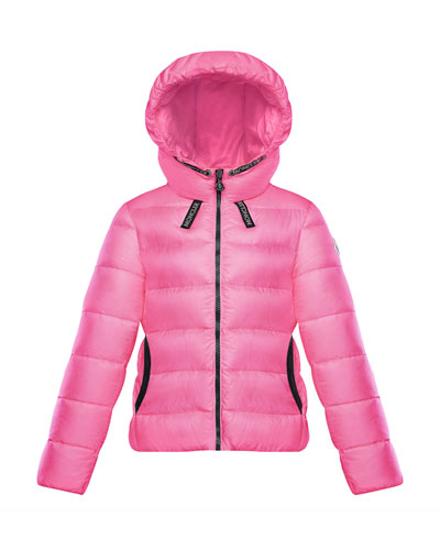Chevril Hooded Puffer Coat, Size 4-6
