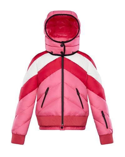Charix Detachable-Hood Colorblock Puffer Coat, Size 4-6