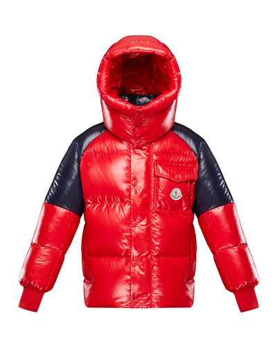 Boy's Sigean Colorblock Puffer Coat, Size 8-14
