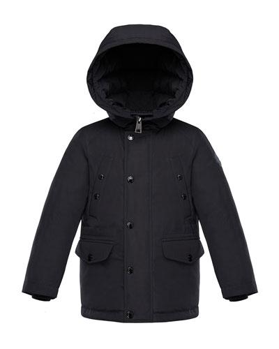 Salagou Logo-Back Hooded Jacket, Size 4-6