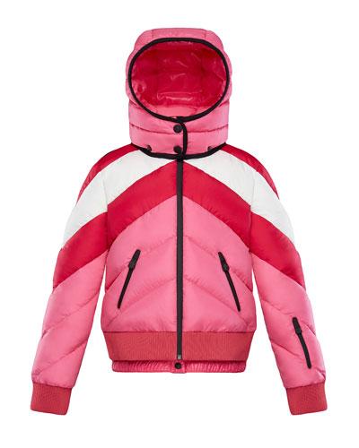 Charix Detachable-Hood Colorblock Puffer Coat, Size 8-14