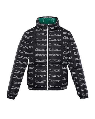 Neal Logo-Text Puffer Coat, Size 4-6