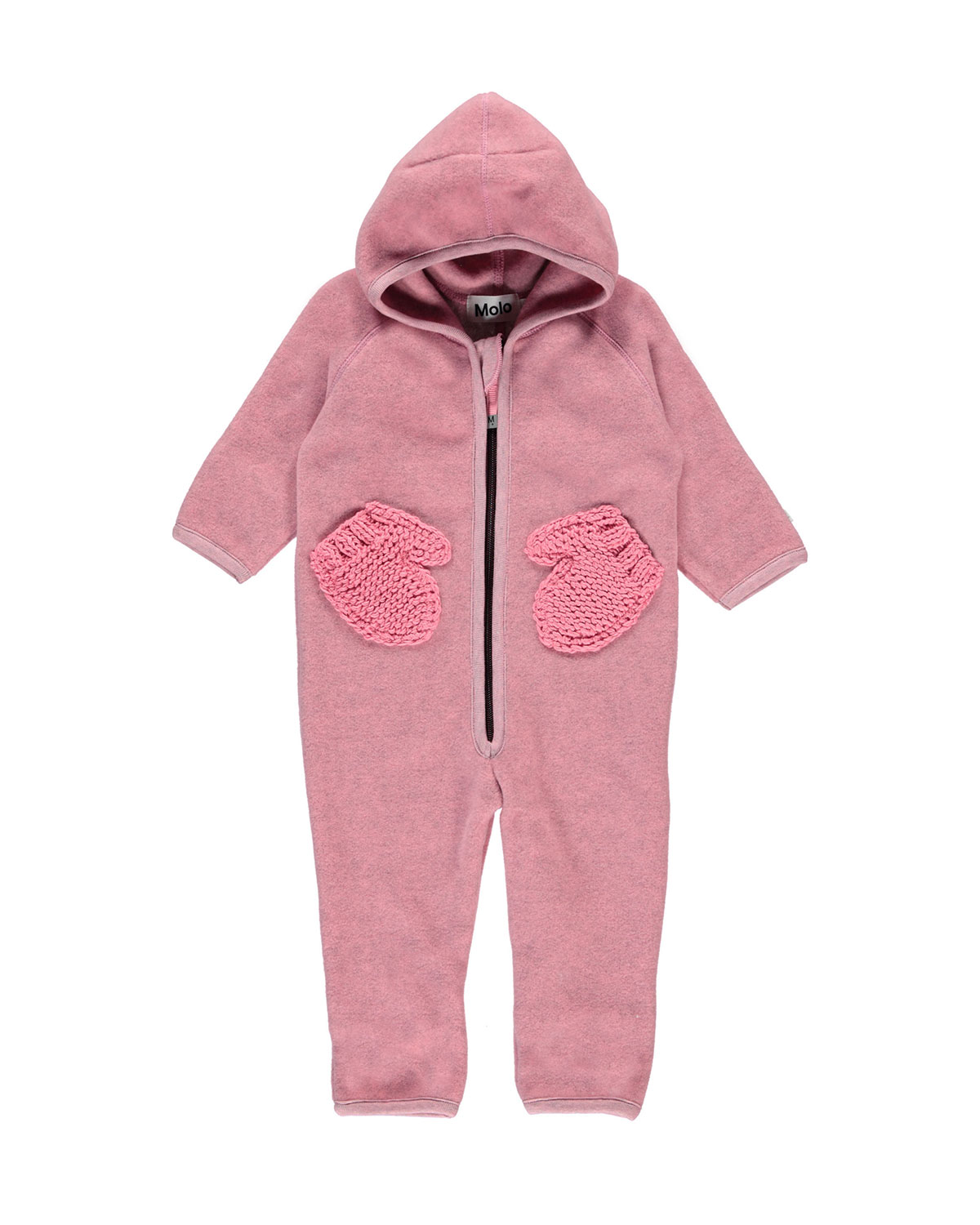Molo UDO HOODED FLEECE COVERALL W/ MITTEN POCKETS