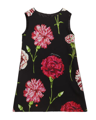 Girl's Sleeveless Floral Dress, Size 8-12