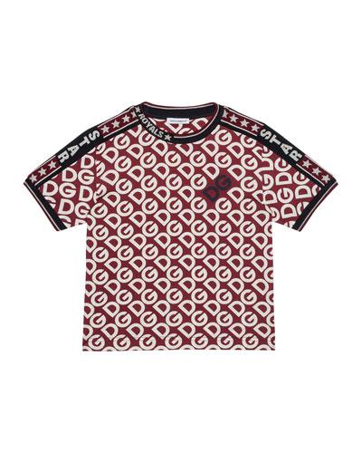 Kid's DG Print Short-Sleeve Tee, Size 4-6