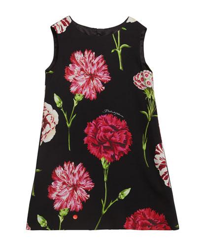Girl's Sleeveless Floral Dress, Size 2-6