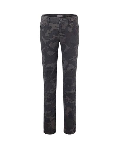 Boy's Zane Camo Super Skinny Denim Jeans, Size 8-16