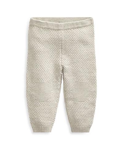Cotton Knee-Patch Pants, Size 6-24 Months
