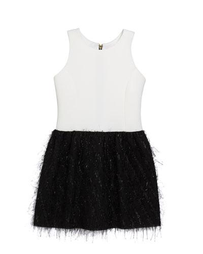 Girl's Fly Metallic Bubble Skirt Dress, Size 4-6X