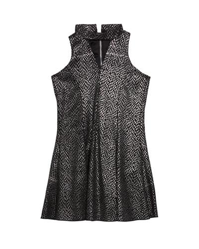 Girl's Zoey Sparkle Knit Cutout Dress, Size 7-16
