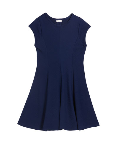 Girl's The Sandra Textured Stripe Dress, Size S-XL