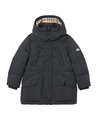 Boy's Ryker Puffer Parka Coat, Size 3-14