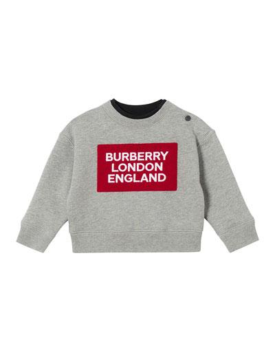 Boy's Logo Patch Sweatshirt, Size 12M-2