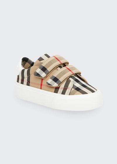 Markham Check Grip-Strap Sneaker, Baby/Toddler
