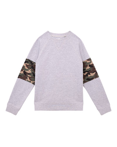 Boys' Zev Crewneck Pullover, Size S-XL