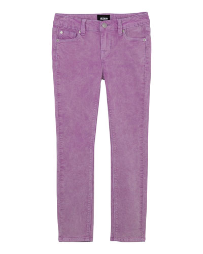 Girl's Acid Wash Corduroy Skinny Ankle Jeans, Size 7-16