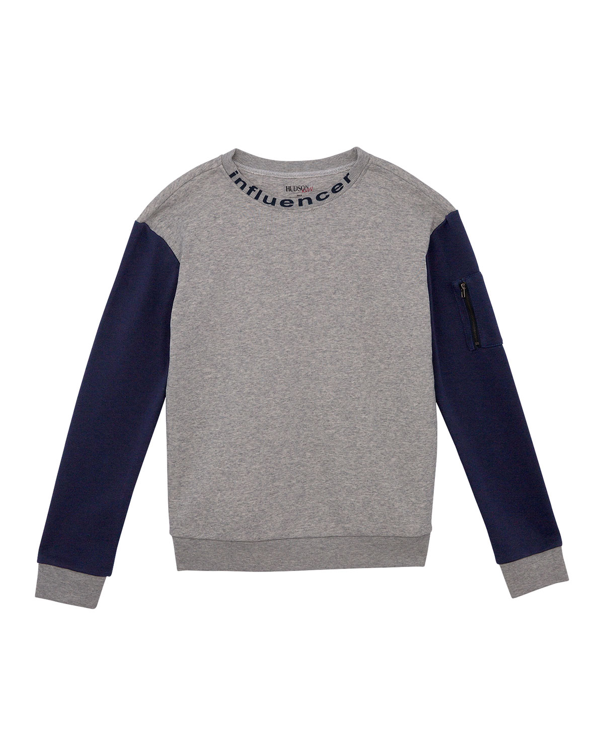 Hudson Tops BOYS' FRENCH TERRY CREWNECK SWEATSHIRT