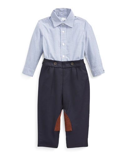 Boy's Broadcloth Woven Shirt w/ Twill Pants, Size 6-24 Months