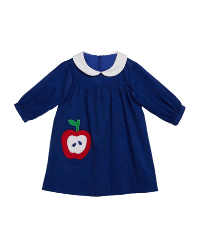 Girl's Long-Sleeve Corduroy Dress, Size 9-24 Months