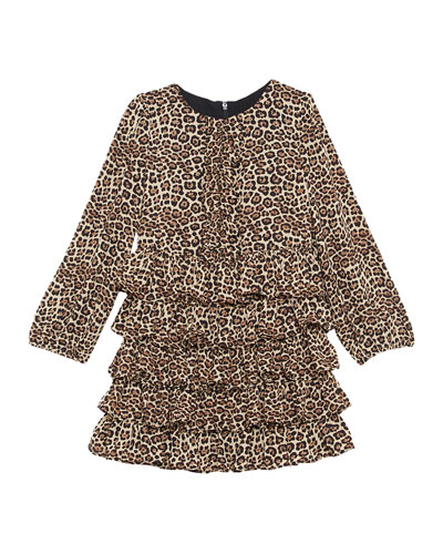 Girl's Tia Animal-Print Dress, Size 7-18