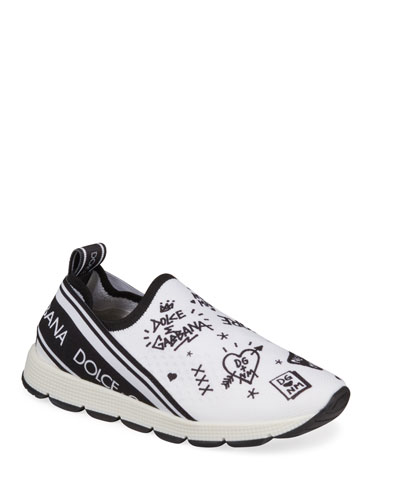 DG + NM Maglina Slip-On Knit Logo-Patch Sneakers, Toddler/Kids