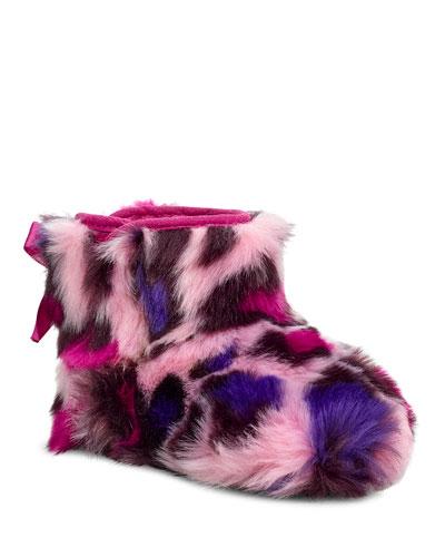 Jesse Bow II Leopard Print Boots, Baby/Kids