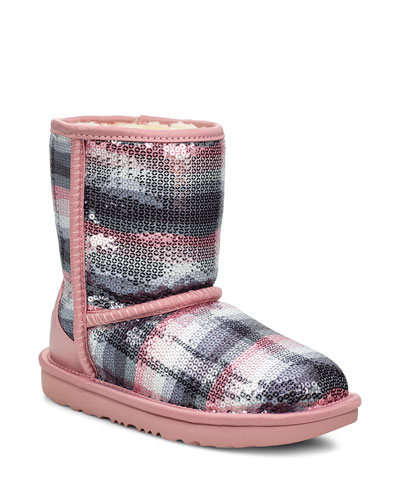 Classic II Rainbow Printed Sequin Boots, Toddler/Kids