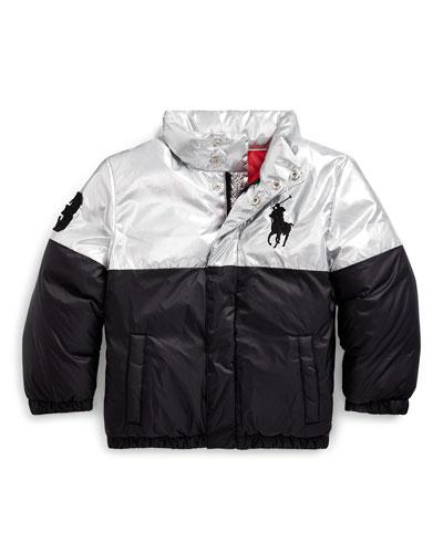 Boy's Two-Tone Puffer Jacket, Size 2-4