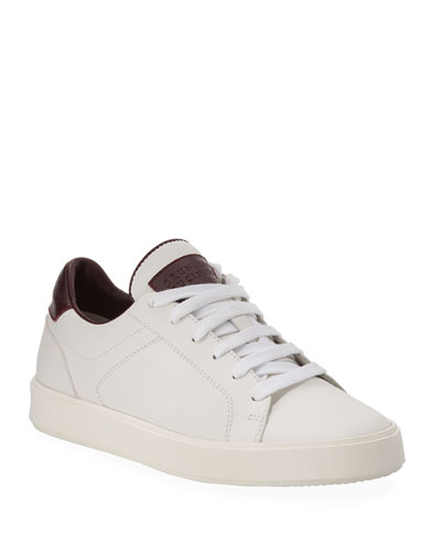 Boy's Leather Low-Top Sneakers, Kids
