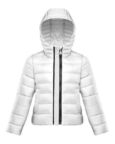 Girl's Glycine Logo Front Quilted Jacket, Size 8-14