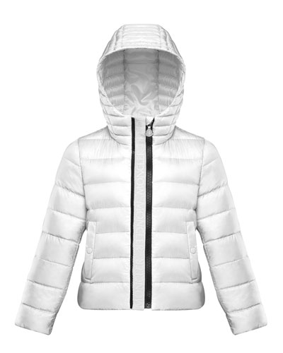Girl's Glycine Logo Front Quilted Jacket, Size 4-6