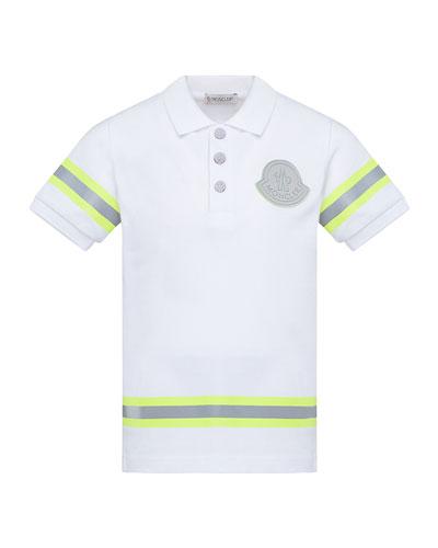 Boy's Maglia Polo Shirt w/ Reflective Tape, Size 4-6