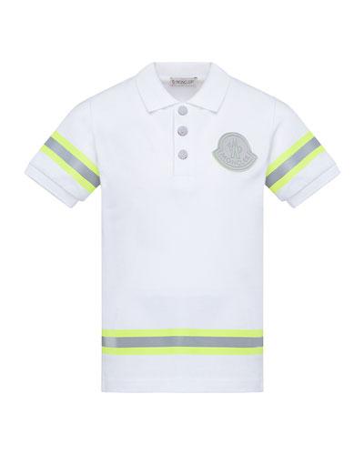 Boy's Maglia Polo Shirt w/ Reflective Tape, Size 8-14