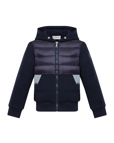 Boy's Puff Front Hooded Jacket, Size 4-6